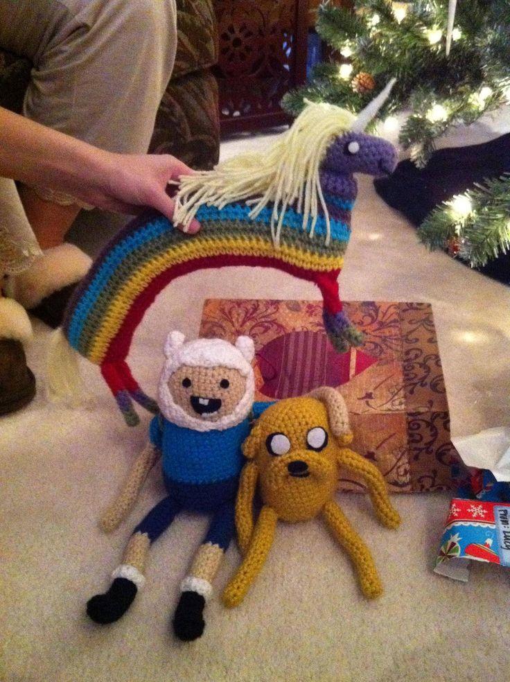 adventure time crochet Rainbow unicorn pony!!! DRATW