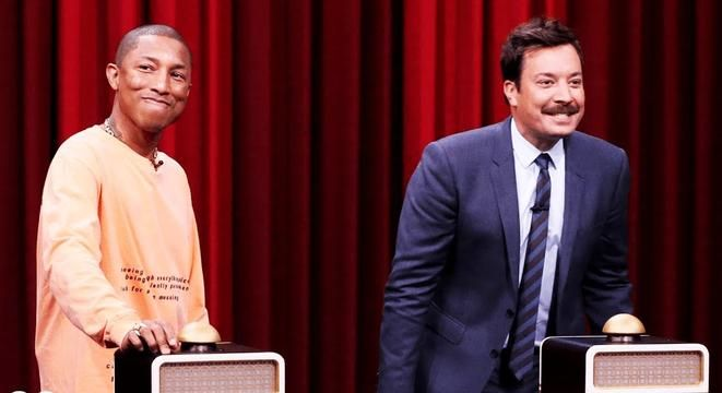 Jimmy Fallon And Pharrell Compete In A Song-Naming Challenge