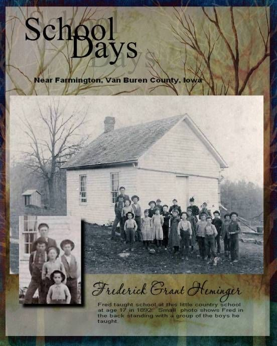 Teaching - Digital Scrapbook Place Gallery. Perfect for pics of the one room schoolhouse in WV my Mom taught in.