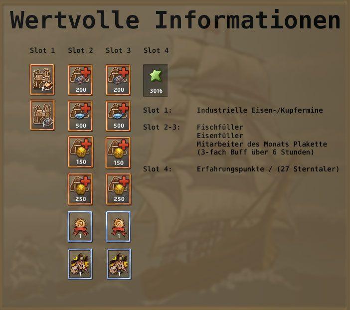 http://www.zwergenstadt.com/siedler/dso-unternehmungen-loots.php Excelsior Abenteuer Wertvcolle Informationen DSO Karten, Loots und Belohnungen
