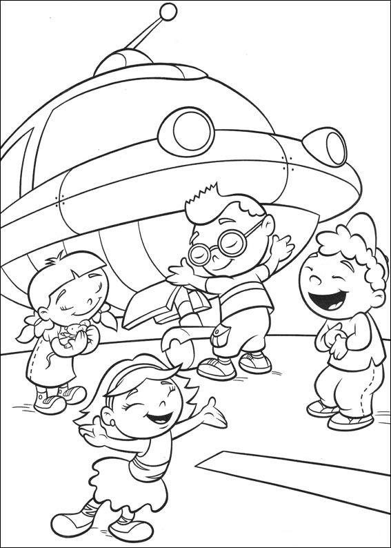 Dibujos para Colorear Mini Einsteins 20