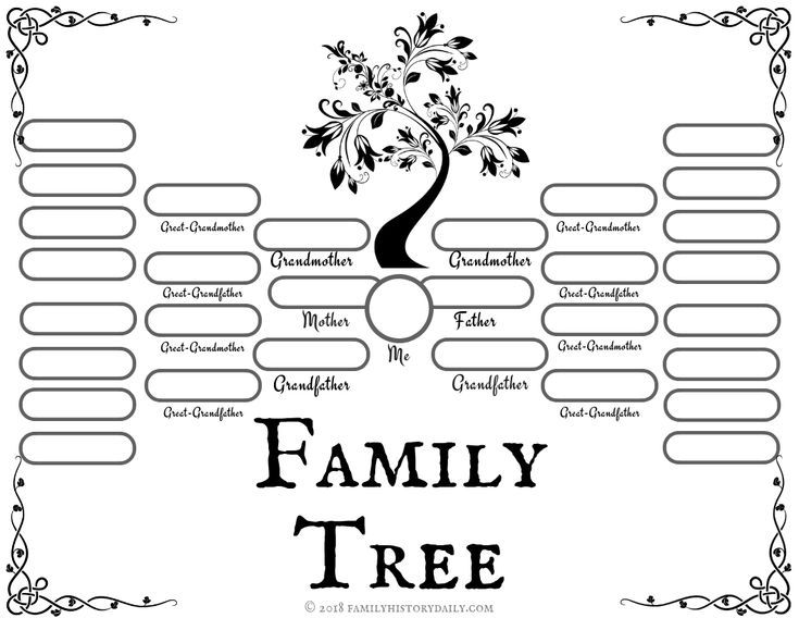 4 Free Family Tree Templates For Genealogy Craft Or School