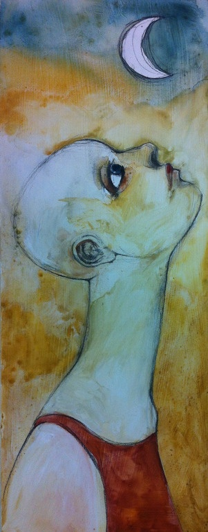 "Saatchi Online Artist: Alessandro Andreuccetti; Gouache, 2011, Painting ""Che fai tu luna in ciel"""