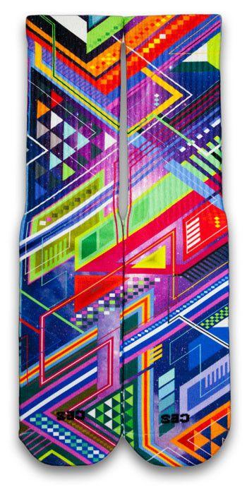 The Purple Grid CES Custom Socks