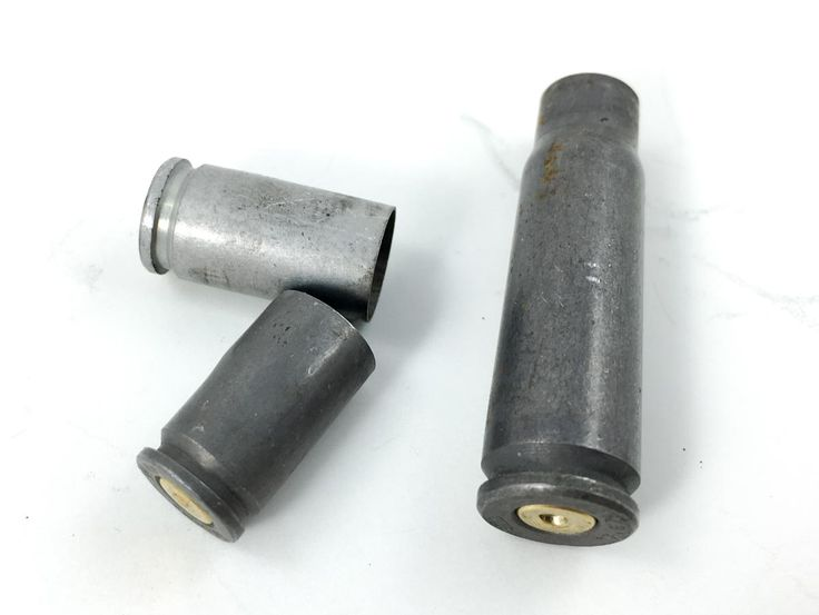 Reloading: Brass Resizing, One of the first steps during inspection is to toss cases that are not made of brass. They're generally not reloadable.