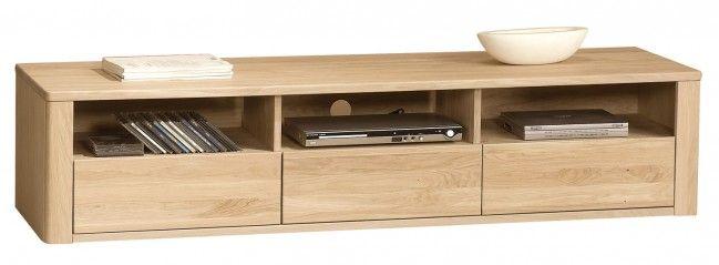 Orlando Bianco Oak TV Cabinet - 3 Drawers