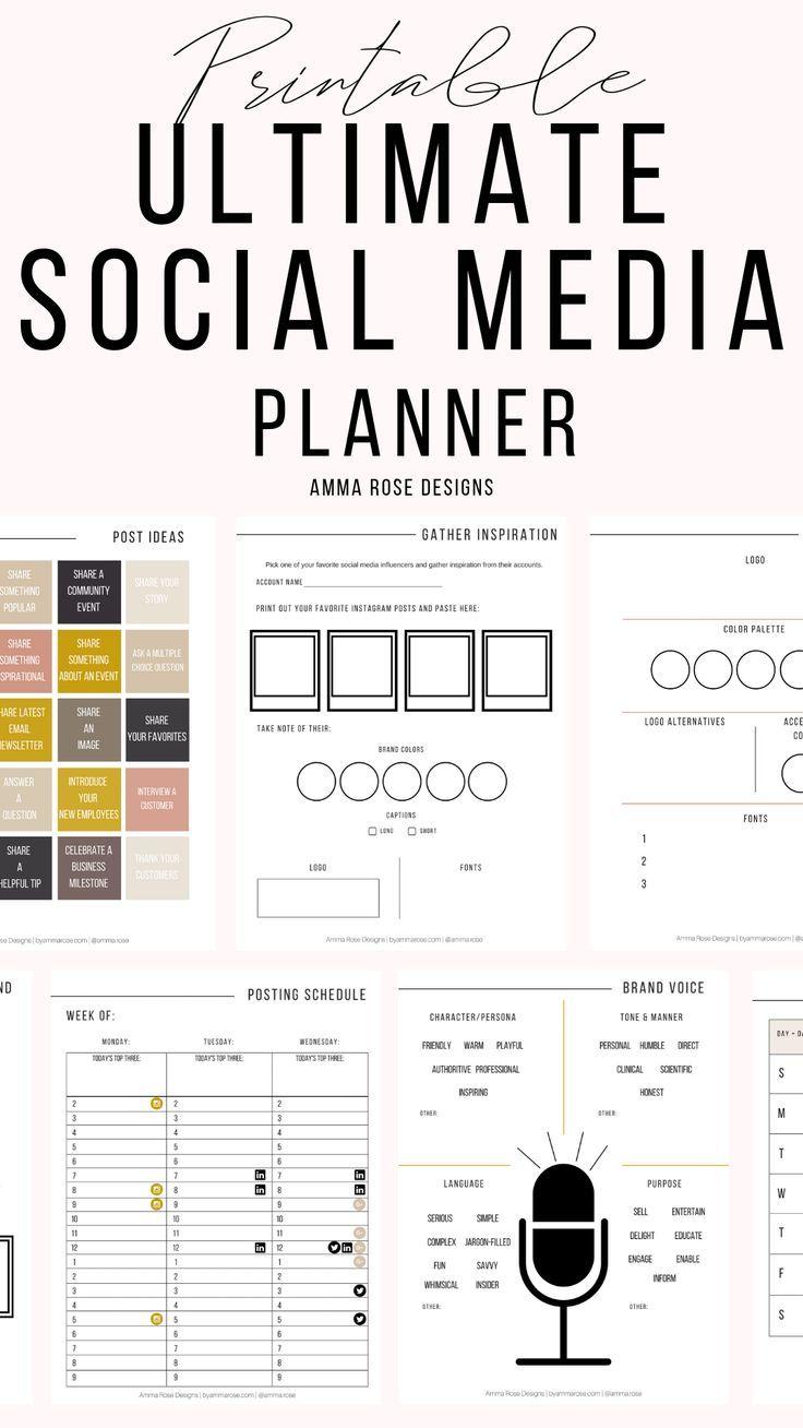 Social Media Planner   Business Planner   Social Media Plan   Instagram Planner   Social Media   Marketing Planner   Printable Planner