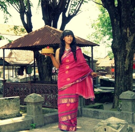 My pink saree ...love it