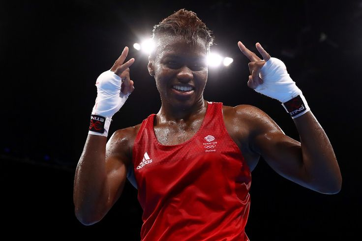 Nicola Adams of Great Britain celebrates after defeating Cancan Ren (not pictured) of China during a Women's Fly (48-51kg) Semifinal bout on Day 13 of the 2016 Rio Olympic Games at Riocentro - Pavilion 6 on August 18, 2016 in Rio de Janeiro, Brazil.
