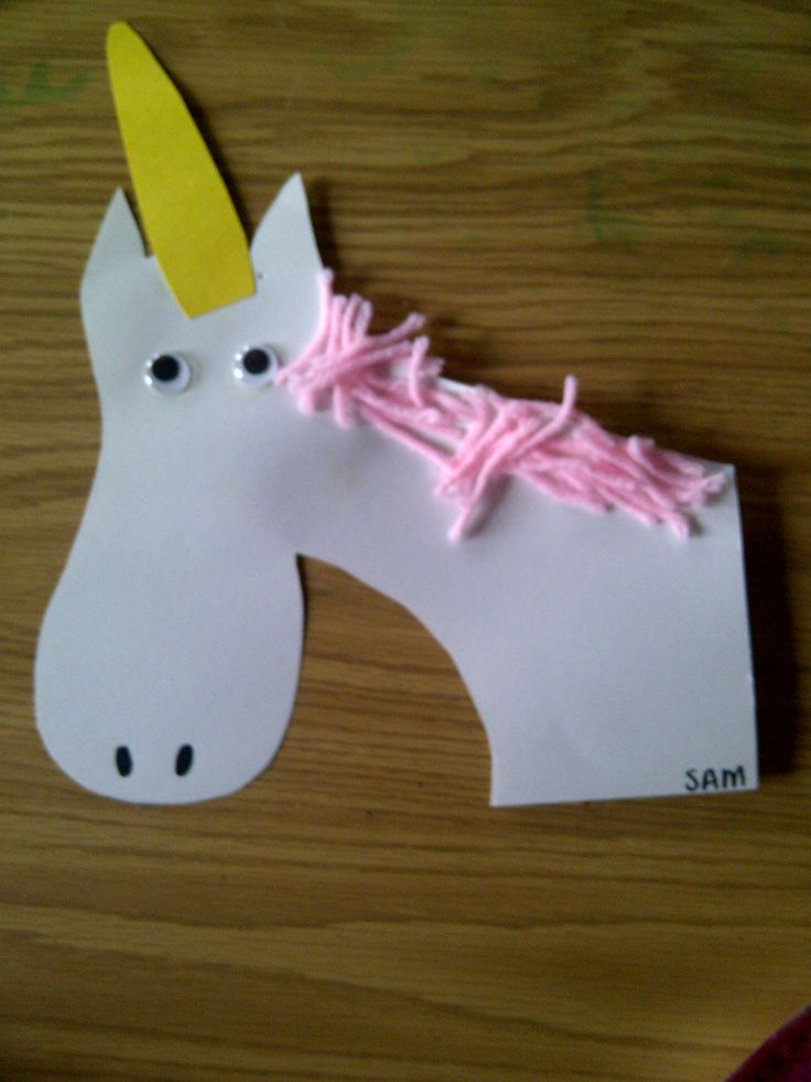 'U' is for unicorn.