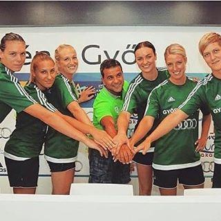 Új játékosaink! Sok szerencsét kívánunk!  Kiss Éva, Tomori Zsuzsanna, Tóth Gabriella, Linn Jörum Sulland, Nycke Groot és Yvette Broch