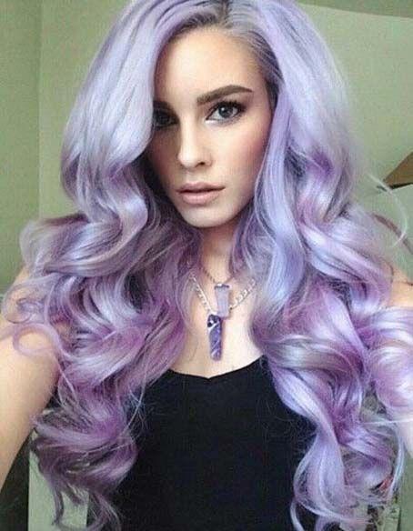 coiffure longue pastel