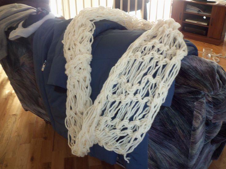 Châle fait tricot main