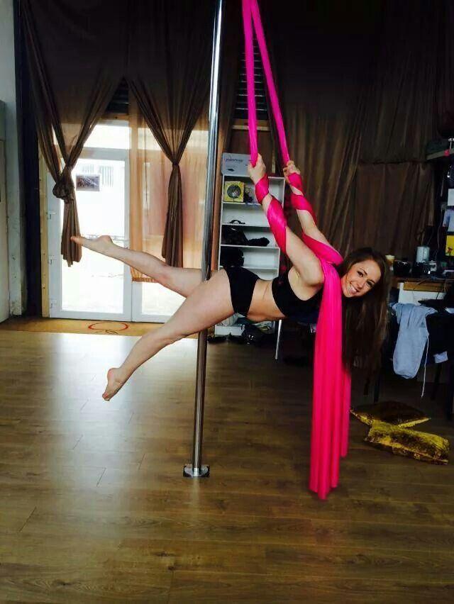 Pole silks | Pole Dancing | Pole dance moves, Aerial dance ...