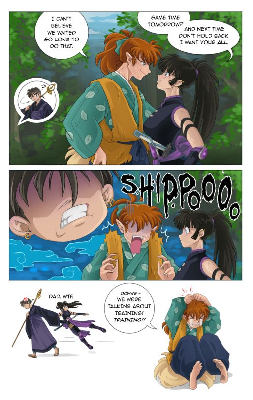 MiroSanta Hahaha I would love to see Miroku as the overprotective dad to his daughters. As a previous lecher, he would probably advise his daughters a lot.