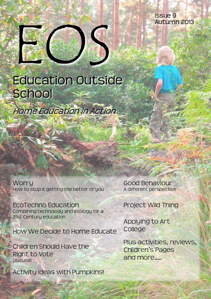 EOS (Education Outside School) is a national magazine aimed primarily at the home education community in the UK