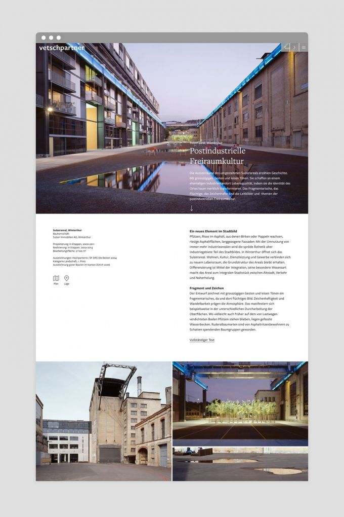 New web design for Swiss landscape architects   Katharina-Sulzer-Platz, Winterthur   vetschpartner Landschaftsarchitekten AG   www.vetschpartner.ch