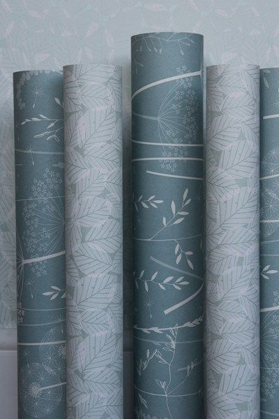 Paper Meadow Wallpaper in Teal by Hannah Nunn.  photo by http://www.sarahmasonphotography.co.uk/