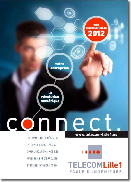 Visuel pour la collecte de la taxe d'apprentissage de TELECOM Lille1