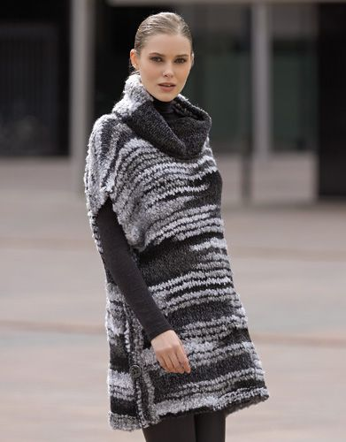 Book Woman Urban 84 Autumn / Winter | 27: Woman Poncho | Grey