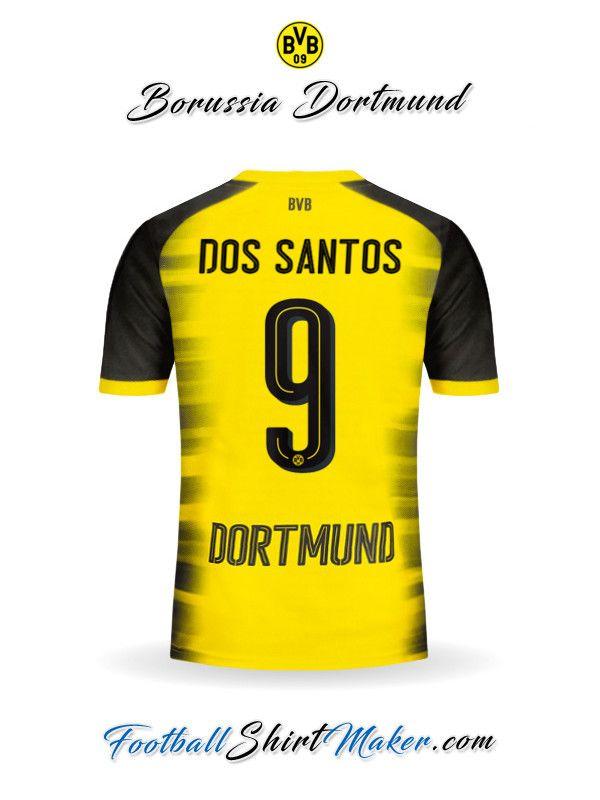 Camiseta Borussia Dortmund 2017/2018 Cup Dos santos 9