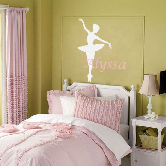 Ballerina Wall Decal   Personalized Dance Theme Nursery Name Decal For Baby  Girl Or Teen Girls Room Vinyl Wall Art