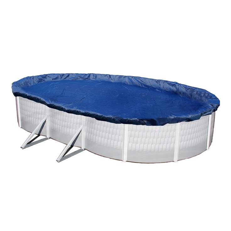 Blue Wave Gold-Grade Oval Above-Ground Winter Pool Cover for 16-ft. x 25-ft. Pool, Multicolor