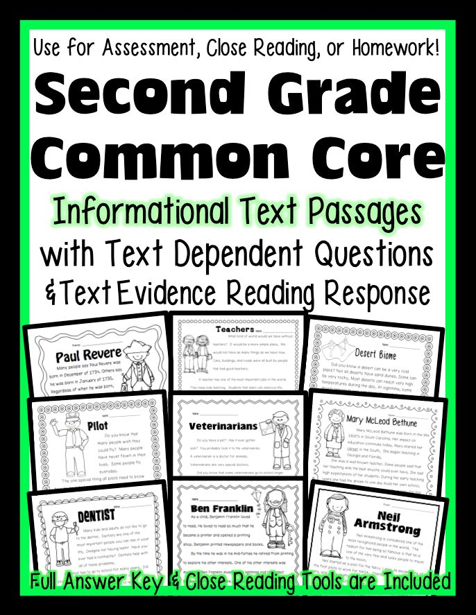 Second Grade Reading Informational Text Standards