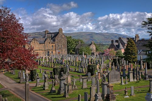 Stirling Cemetery, Scotland - Remembering walking through the cemetery at night with Deb, Pete, and Jerry.