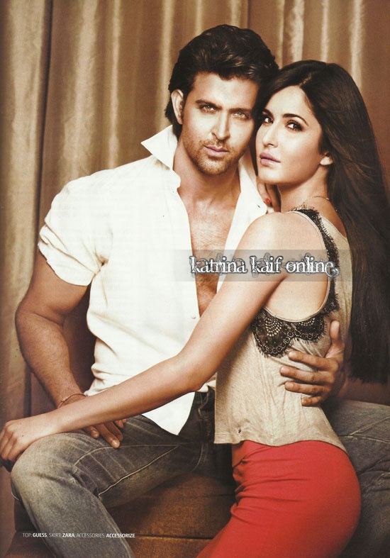 Hrithik Roshan and Katrina Kaif; two of the most beautiful people together in one photo.