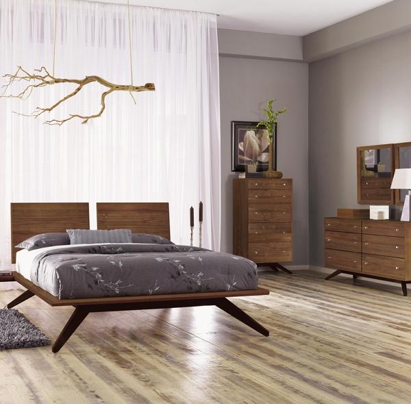 Walnut Bedroom Furniture Set | American Made in VT | Copeland Astrid | Organic Solid Walnut Wood | Zen