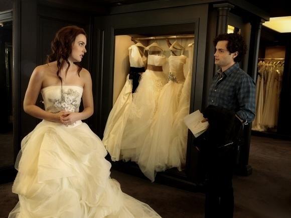 Свадебное платье из сплетницы