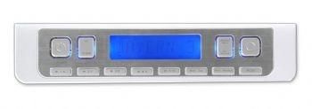 UR2010 White & Silver FM Under Cabinet Radio for Kitchen - SoundMaster