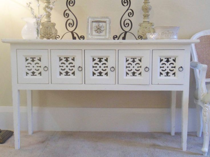 White Console Table With Storage