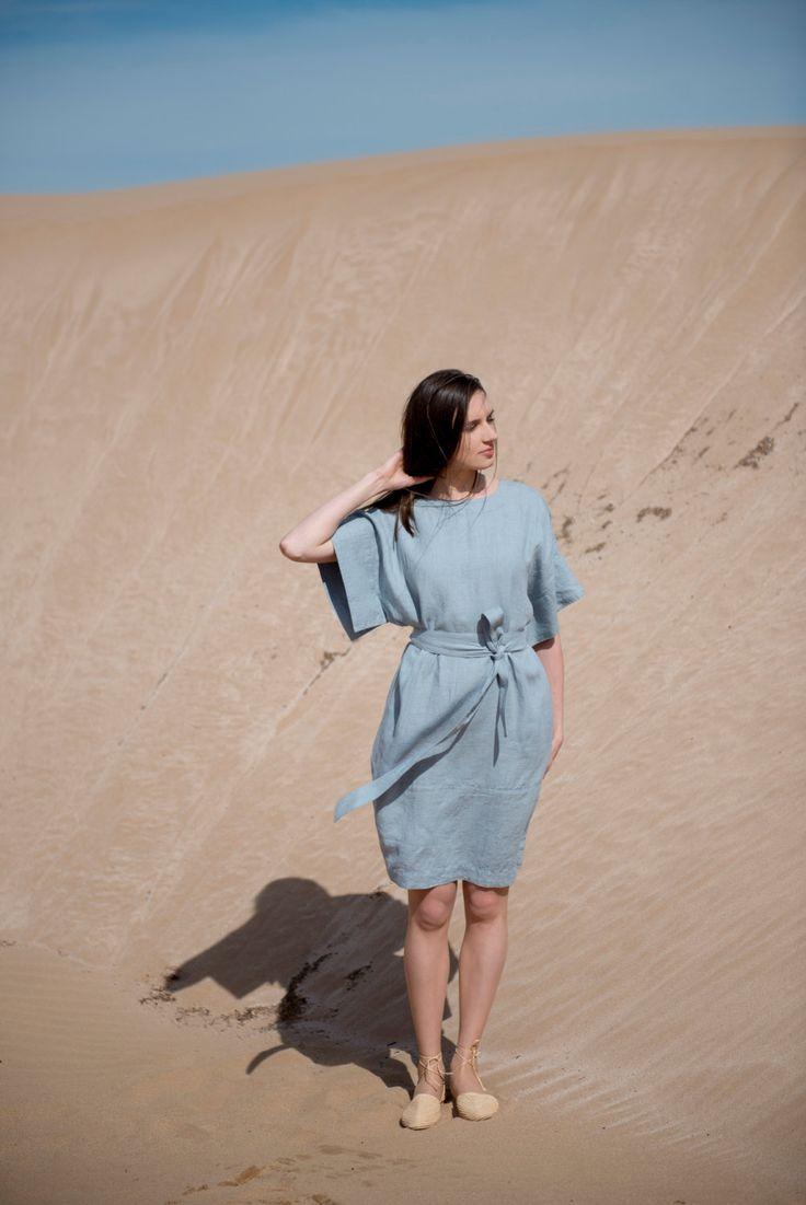 Linen Dress Motumo - 16S9 by MotumoLinen on Etsy