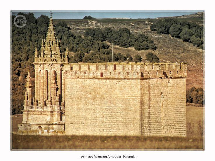 Castillo y Colegiata de #Ampudia , #Palencia  de #Casi360 fotografia