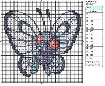 12 - Butterfree by Makibird-Stitching.deviantart.com on @deviantART