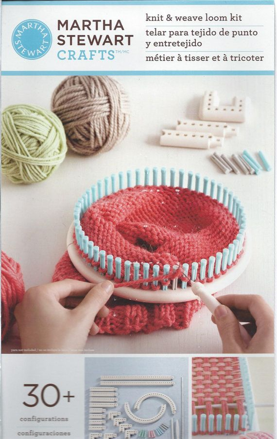 113 best hobbies loom images on pinterest knitting for Martha stewart crafts knit weave loom kit