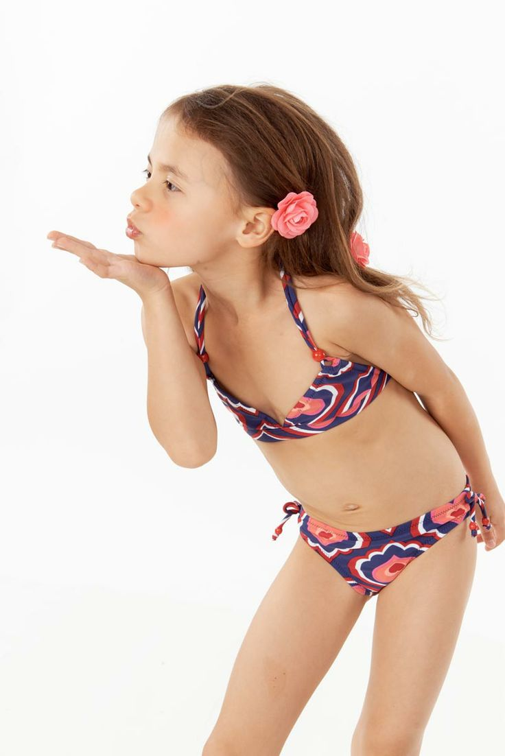 Girls Hearts Navy printed Itsy Betsy bikini for girls from ...