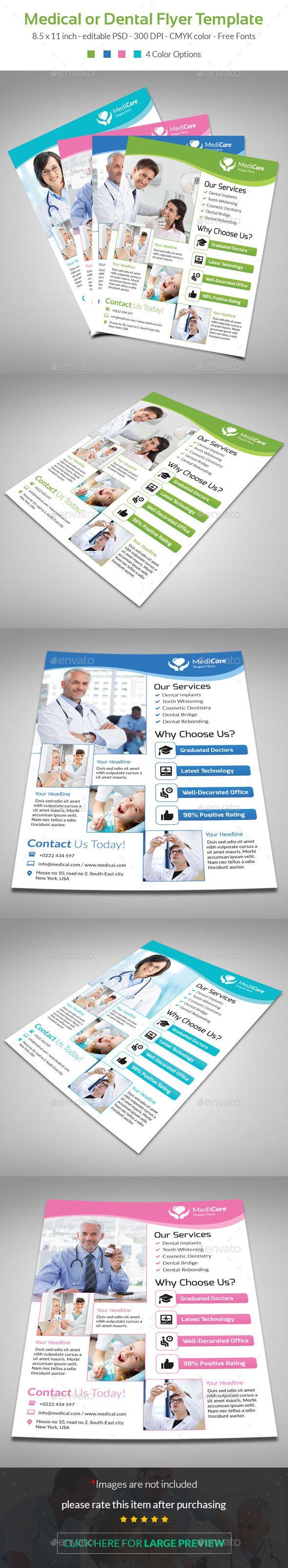 best images about dental marketing flyer medical flyer template