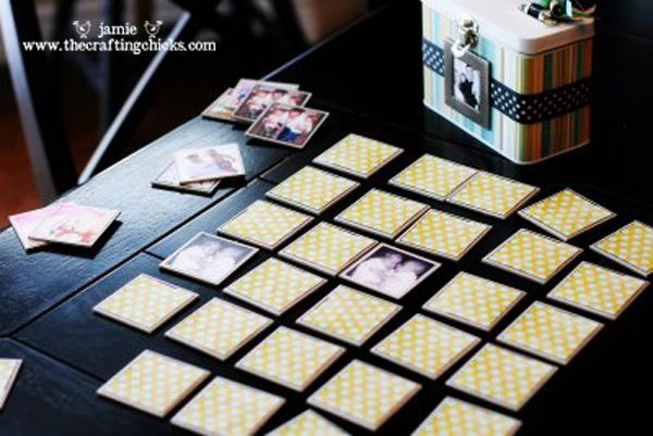 Photo Memory game - what a great way to play a game while also being reminded of sweet family and friends.