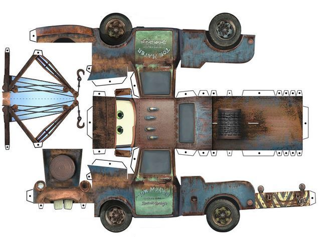 Paper Toys Car | CARS paper toys by Paul Kouppas at Coroflot.com