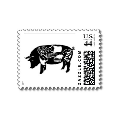 pig stamp for chef thank you's