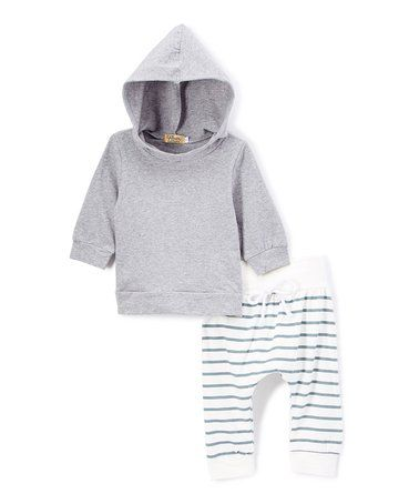 d72435d67948 Look at this  zulilyfind! Gray Hoodie   Stripe Sweatpants - Infant ...