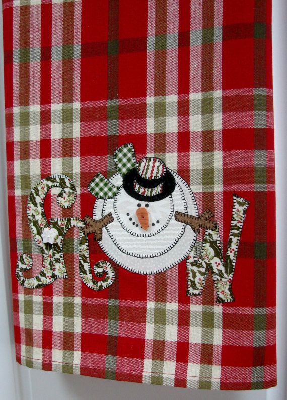 Dish+Towel+Kitchen+Towel++Let+it+Snow++by+TwoGirlsLaughing+on+Etsy,+$18.00