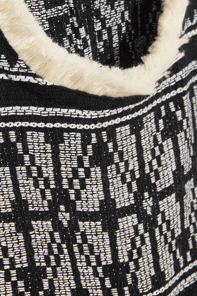 SEA - Embroidered Cotton And Linen-blend Gauze Mini Dress - Black