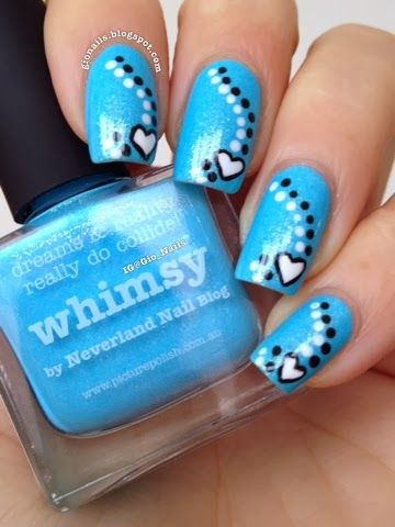 GioNails: Blue For November #2: Whimsy - piCture pOlish