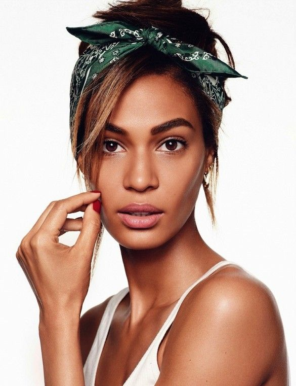 Joan Smalls is a fresh-faced beauty in this shoot for Vogue Spain // Photo by Miguel Reveriego For
