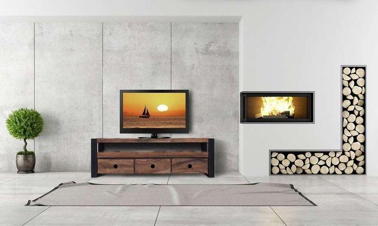 Tv Bænk | Køb et elegant Tv Bord i Massive Planker | 175 cm