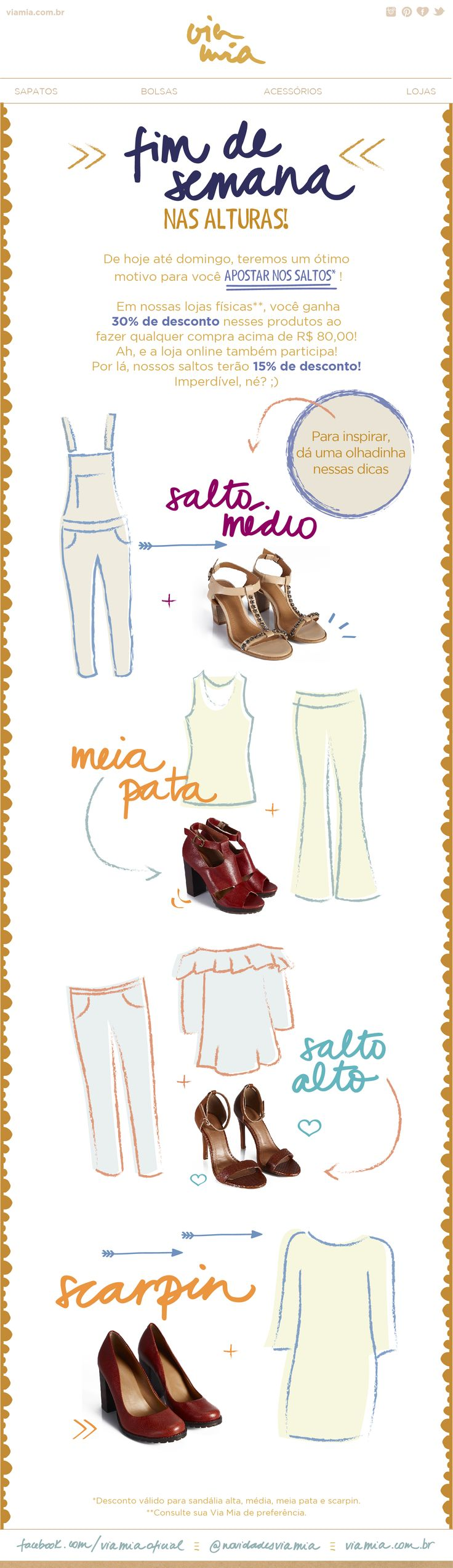 Via Mia | newsletter | fashion email | fashion design | email | email marketing | email inspiration | e-mail